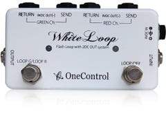 One Control White Loop True-Bypass Looper